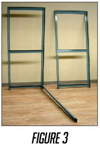 widespan shelving assembly